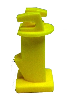 "Nail On Wood Post Slant Nail Insulator 2"" Yellow - 25 Pack"