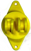 Wood Post Claw Insulator Yellow - 25 Pack