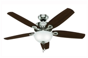 Ceiling Fan, 120 V, 64 W, 3-Speed, 5-Blade, 52 In