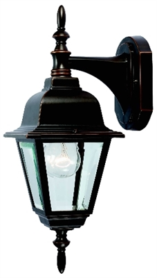 1 Light Rust Coach Lantern Outdoor Wall Fixture
