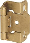 Amerock BPR7550BB Cabinet Hinge, Steel, Burnished Brass
