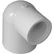 "1""x3/4"" Slip x Thread 90 Elbow Schedule 40 PVC"