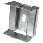 Rough Cut 6x6 Adjustable Post Base - Zmax Finish