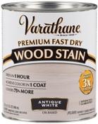 Premium Fast Dry Wood Stain, Antique White, 1 Quart