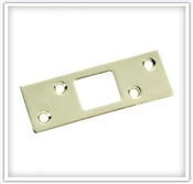 "1-1/4"" x 3-5/8"" Brass Plated Steel Security Strike"
