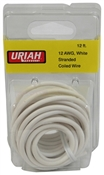 12' White 12AWG Primary Wire