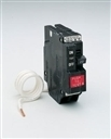 "General Electric Self Testing Ground Fault breaker, 1 pole, 20 amp, 1"" THQL style"