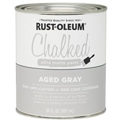 Aged Gray Chalked Paint, 30 Oz.