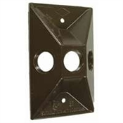 "3-1/2"" Rectangular Cover - Bronze"