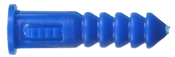 Ribbed Plastic Anchor Blue 8-10-12X1.25