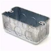 Raco 8670 Handy Box, 1-Gang, Galvanized Steel, Gray