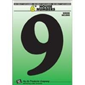 "6"" Black Plastic House Number 9"