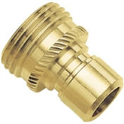 Gilmour Green Thumb 09QCMGT Hose Quick Connector Male, Solid Brass