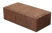 "2-1/2"" x 4"" x 8"" Holland Paver Red/Black"
