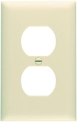 Ivory Nylon 1 Gang Receptacle Plate 10 Pack