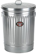 30 Gallon Steel Trash Can