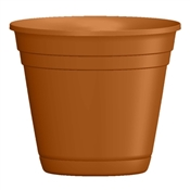 """4"""" Light Terra Cotta Riverland Planter with attached saucer"""