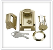 Night Latch W/ 5 Pin Tumbler Locking Cylinder Brass