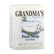 GRANDMA'S 60018 Pure and Natural Bar Soap White, 6 oz