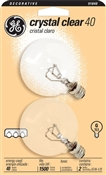 Globe G16 Candelabra Base Go 40 Watt Crystal Clear 2 Pack