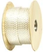 "1/2"" X 250' Multi-Purpose Twisted Nylon Rope, White"