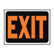 HY-KO Hy-Glo 3003 Identification Sign, Exit, Fluorescent Orange Legend