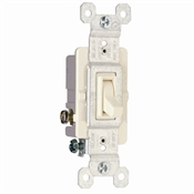 Almond 15 Amp 120 Volt 3-Way Toggle Switch