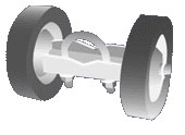 "Double Wheel Gate Roller 6"" Tires"