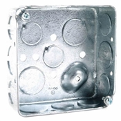 "4"" Steel Square Outlet Box"