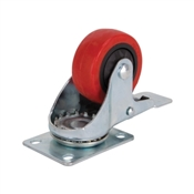 Prosource JC-386-G Swivel Caster with Brake, 3 in Dia Wheel, 176 lb Weight Capacity, Polyurethane Wheel