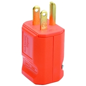 Yellow 15 Amp 125 Volt 3 Wire Grounding Plug
