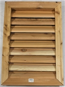 "16""x24"" Rectangular Cedar Louver With Brick Mould"