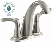 2 Handle Centerset Bathroom Faucet, Brushed Nickel