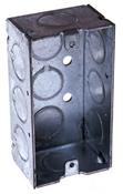 Raco 8650 Handy Box, 1-Gang, Steel, Gray