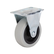 Prosource JC-N02-G Rigid Caster with Brake, 3 in Dia Wheel, 130 lb Weight Capacity, Thermoplastic Rubber Wheel