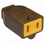 Brown 15 Amp 125 Volt 2 Wire Polarized Connector
