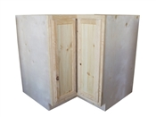 "36"" Unfinished Pine Lazy Susan Cabinet"