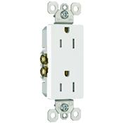 White 15 Amp 125 Volt Decorator Tamper Resistant Receptacle