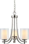 El Dorado 3 Light Chandelier, Satin Nickel