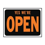 SIGN YES WE ARE OPEN PLASTIC