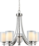 El Dorado 5 Light Chandelier, Satin Nickel