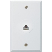 CAT5/6 Wall Plate, White