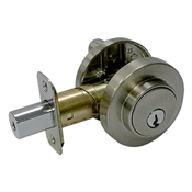 Contemporary Single Cylinder Deadbolt, Satin Nickel