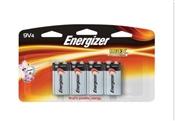 Energizer Alkaline Battery, 9 V, Zinc Manganese Dioxide