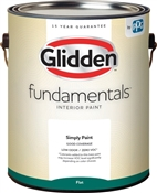 Glidden Fundamentals Flat White Interior Paint, 1 Gallon