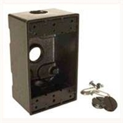 "3-1/2"" Rectangular Outlet Box - Bronze"