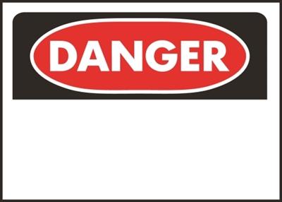 Shop Hy Ko 523 Danger Sign Rectangular White Background At Mccoy S