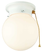1 Light White Globe Indoor Ceiling Fixture