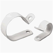 "6 Pack 3/4"" White Plastic Clamp"