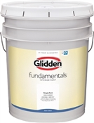 Glidden Fundamentals Semi-Gloss White Interior Paint, 5 Gallon